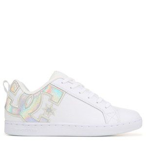 DC SHOES Court Graffik Sneakers White Silver 10.5
